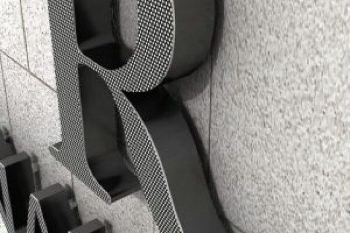 letras 3d de aluminio color