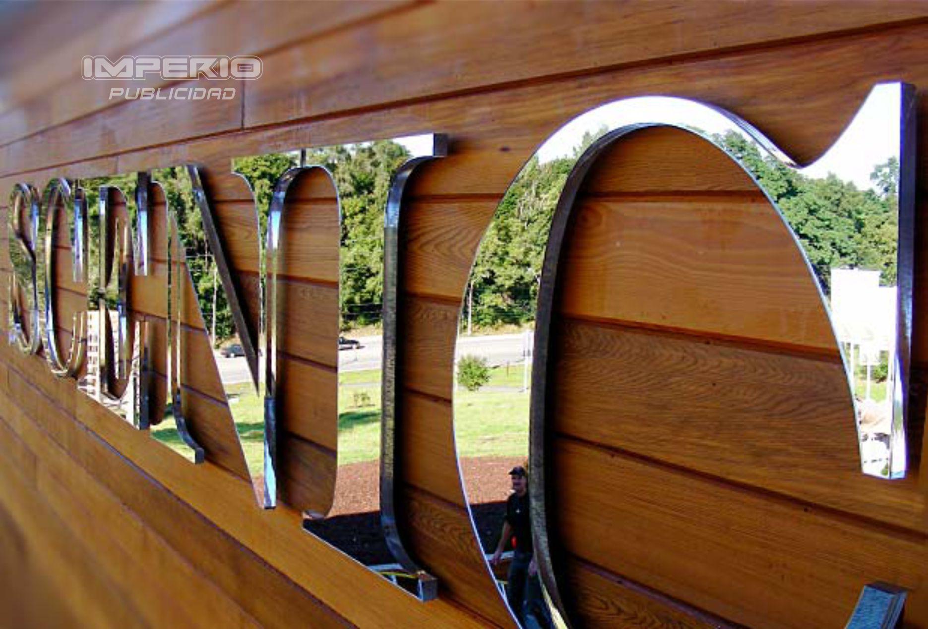 letras 3d de acero inoxidable pulido espejo