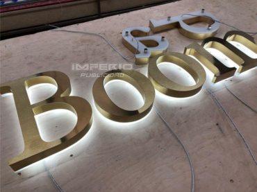 letras 3d de aluminio con iluminación