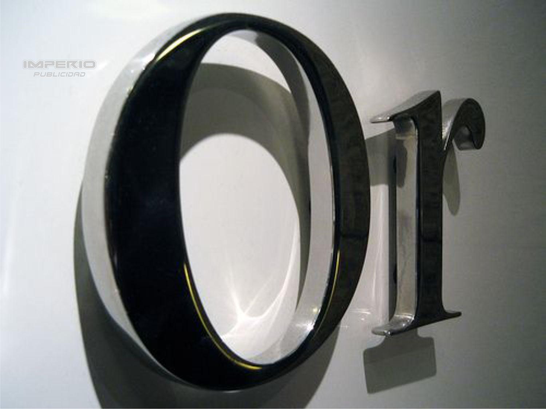 letras en acero inoxidable 3d