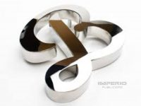 letras en acero noxidable 3d