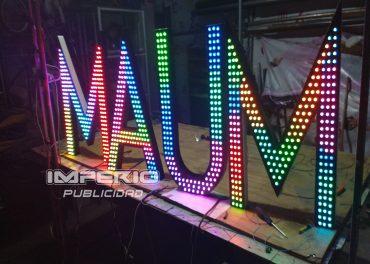 letras 3d aluminio con iluminacion